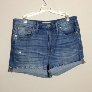 Madewell • High Rise Denim Cut Off Shorts